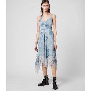 ALLSANTS蓝色印花连衣裙