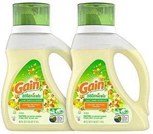 $9.87史低价:Gain 植物基底洗衣液 橙花香草味 40盎司 2瓶装