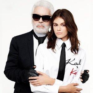 £69起  时尚的你不容错过上新:KARL LAGERFELD X KAIA 老佛爷和最火超模Kaia合作款热卖
