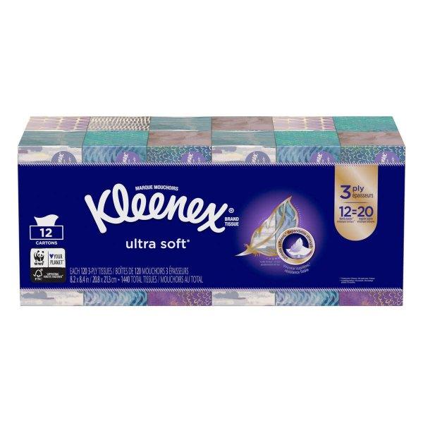 Kleenex 面巾纸12盒