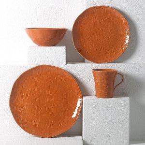 LenoxDesert Flora™ Terracotta 4-piece Place Setting