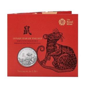 The Royal Mint鼠年生肖银币