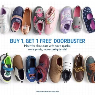 买1送1+双倍积分 清仓区鞋子直接4折上新:OshKosh BGosh 童鞋优惠 秋日新款就参加优惠
