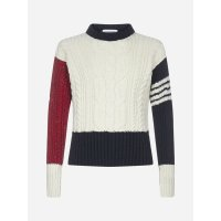 Thom Browne 4-Bar cable-knit 羊毛混纺毛衣