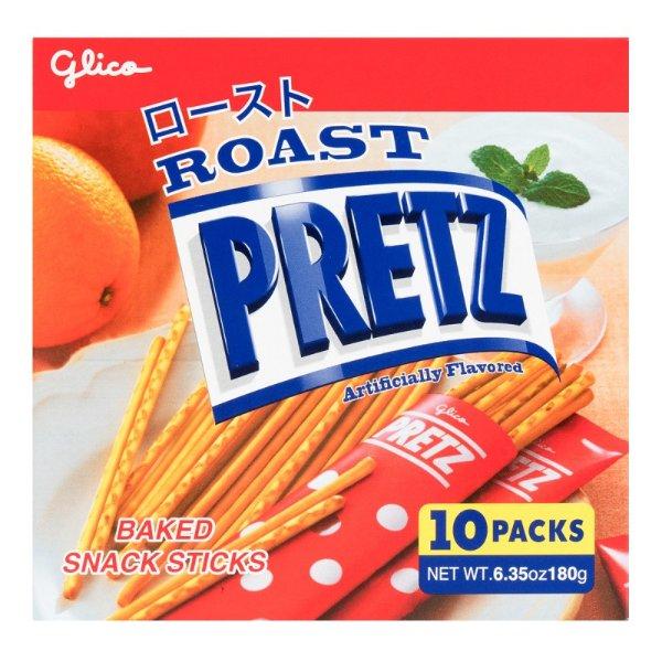 GLICO格力高 PRETZ 烘烤脆棒 原味 4包入 180g