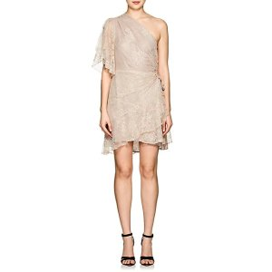 A.L.C.Floral Lace One-Sleeve Minidress Floral Lace One-Sleeve Minidress