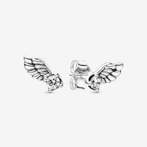 Pandora小天使翅膀耳钉