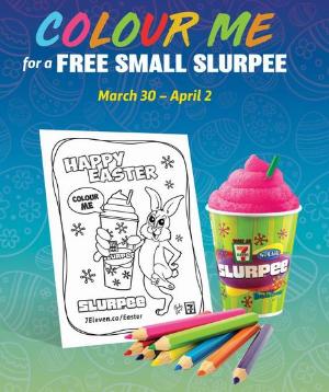 3月30日- 4月2日7-11庆祝复活节 免费送Slurpee冰沙