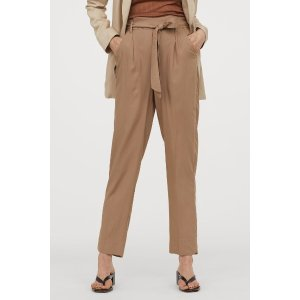 H&M纸袋裤