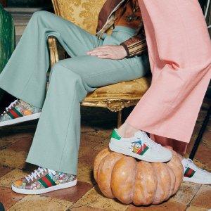 4折起+最高再减$100 Pick杨幂同款老爹鞋Gucci 鞋履专区 收Disney联名款、蜜蜂爱心、草莓鞋300+