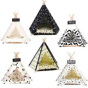 JORMEL Pet Tent Dog Bed Cat Toy House Portable Washable Pet Teepee Stripe Pattern  Fashion 2019 Not Included Mat-in Houses, Kennels & Pens from Home & Garden on Aliexpress.com   Alibaba Group