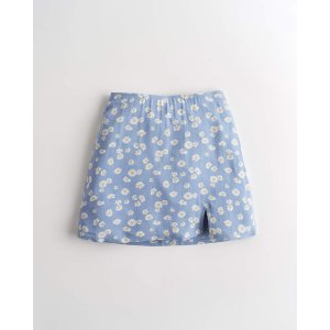 Hollister印花短裙