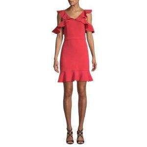 Rachel Zoe- Delia Cold-Shoulder Dress