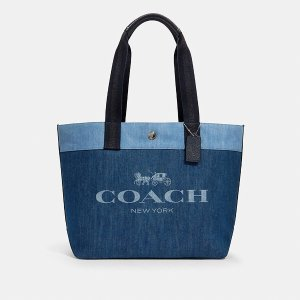 CoachLogo 丹宁托特包