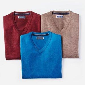 低至3.2折+额外7.5折 $11.96收羊毛衫macys.com 精选男款毛衣超低价热卖
