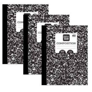 3 Pack Pen+Gear 100ct Marble Composition Book Wide Ruled 9.75