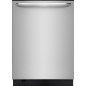 FrigidaireFGID2476SF 24 Inch Fully Integrated Dishwasher with 14 Place Setting Capacity, 7 Wash Cycles, Silence Rating of 51 dBA, OrbitClean®, EvenDry™, DishSense™, SpaceWise®, NSF® Sanitize, Quick Clean, Status Indicator, and ENERGY STAR®: Stainless Steel