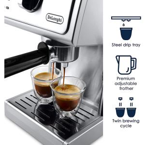 $179.99包邮(原价$229)De'Longhi ECP3630 意式不锈钢咖啡机 拥有被香味环绕的早晨