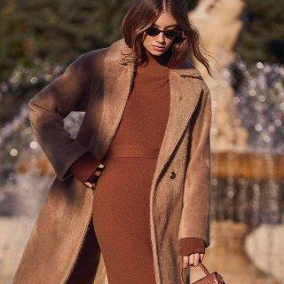 $60+收封面款焦糖色针织裙Lulu's 秋冬新款美裙抢鲜热卖