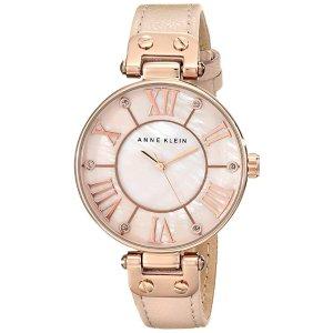 Anne KleinWomen's Rose Goldtone Oversized Dial Strap Watch