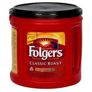 Folgers Coffee Ground Classic Roast, Medium 39 oz
