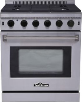 Thor Kitchen LRG3001U 30 Inch Freestanding Range with Convection, Continuous Grates, Porcelain Drip Pan, 5 Sealed Burners and 4.5 cu. ft. Capacity