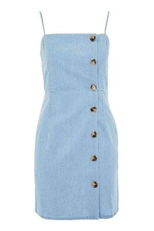TALL Horn Button Mini Dress - Topshop USA