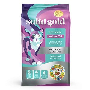 $20.18(原价$33.29)闪购:Solid Gold 无谷三文鱼扁豆苹果味猫粮 12lb