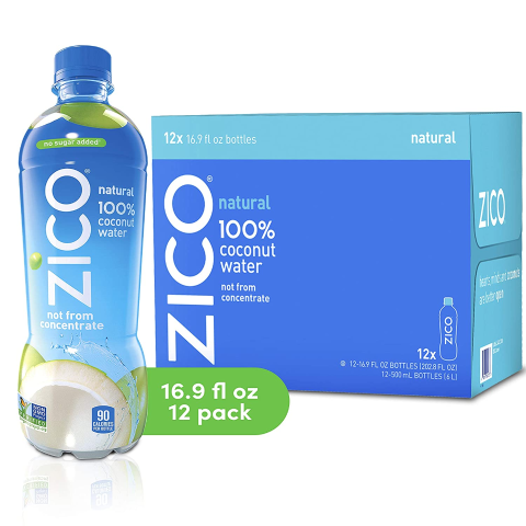 $17.57 + Free ShippingZICO Natural 100% Coconut Water Drink 12 Pack