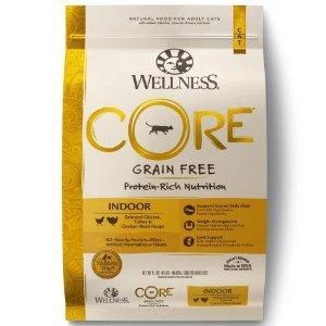 Wellness Core纯天然无谷鸡肉火鸡味室内猫粮 11磅