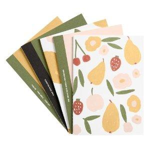 Kikki.K封面款五个装水果系列笔记本