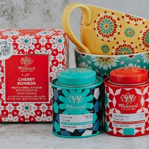 满额赠人气爆款奶香乌龙独家:Whittard 夏日限定 冰茶、椰香咖啡、砖花茶杯、茶壶上架