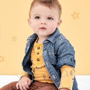 卫衣+运动裤$5.85/套 Fun Cash延长比黑五低:Carter's官网 秋款童装3折+无门槛7.5折周末热卖
