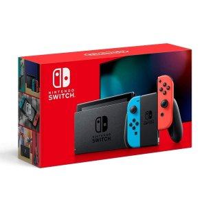 Nintendo Switch 32GB 续航增强版 红蓝,美亚自营