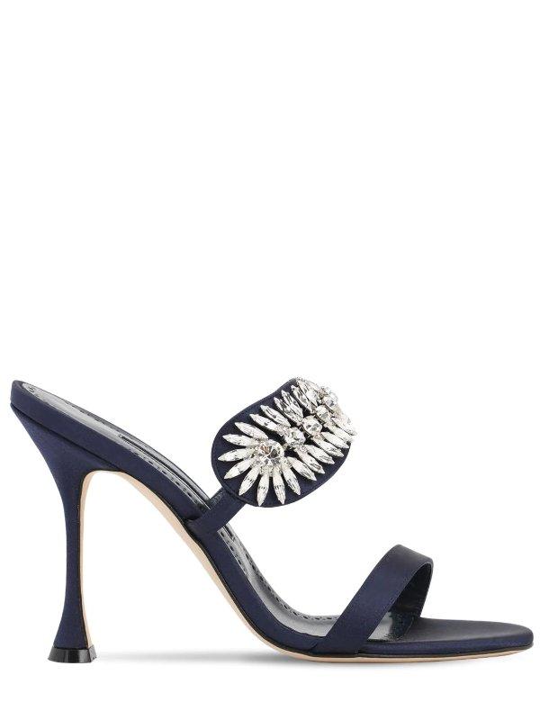 水晶高跟拖鞋