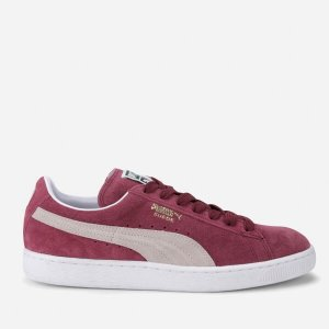 Puma拼色麂皮运动鞋