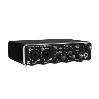 Behringer U-Phoria UMC202HD Audiophile 2x2 USB Audio Interfa