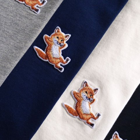 3.4折起 狐狸头钱包$131Maison Kitsune 法国刺绣小狐狸 收T恤、卫衣$136