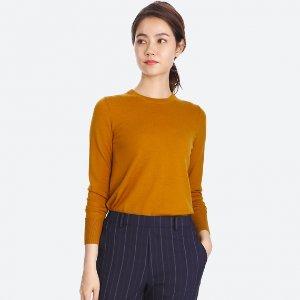 低至$29.9  经典款热卖Uniqlo官网 男女款美丽奴羊毛衫