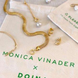 全场8折 $184收友谊手链闪购:Monica Vinader 复古精致首饰热卖 $212收硬币吊坠项链