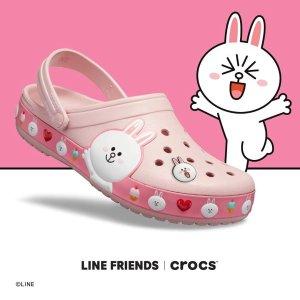 额外7.5折$37.49包邮 装饰扣$2.99Crocs 和 LINE Friends 合作洞洞鞋,男女码都有
