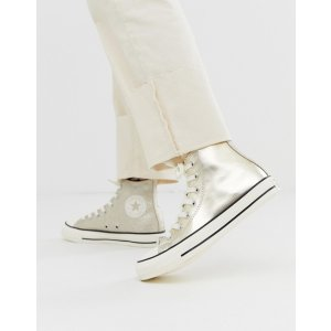 ASOSConverse chuck taylor all star hi gold glitter sneakers   ASOS