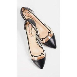 Charlotte Olympia猫耳朵平底鞋