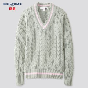 UniqloWOMEN CRICKET V-NECK SWEATER (INES DE LA FRESSANGE)