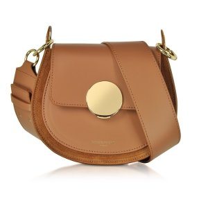 ForzieriYucca Suede and Leather Shoulder Bag