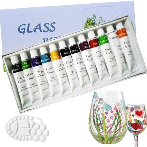 $9.49Magicdo Stained Glass Paint with Palette