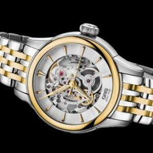$795 (原价$2990)史低价:ORIS 镂空镀金机械时装腕表