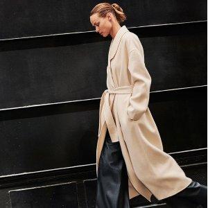 5折起+折上8折 €67收羊毛大衣COS 官网冬季大促 新款大衣外套强势加入 北欧极简范儿