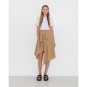 3.1 Phillip LimBeige & White T-Shirt Handkerchief Dress