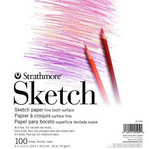 $10.7 (原价$15.97)Strathmore 学生素描本100页